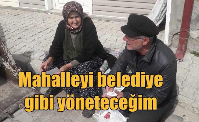 Ortakaraören Muhtar Adayı Şakir Yıldırımoğlu: Belediye gibi çalışacağız