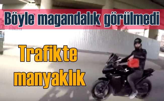 Polis, motosikletli manyağı yakaladı| Harekat halinde benzin koydu