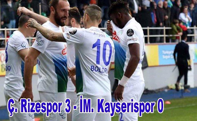 Rizespor, Kayserispor'a geçit vermedi