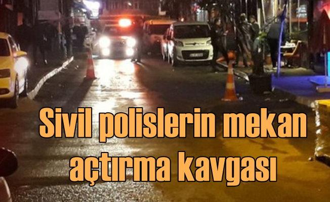 Sivil polisler kapalı mekanı açmayan görevliye sıktı