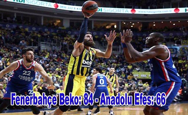 Türk derbisini galibi Fenerbahçe Beko
