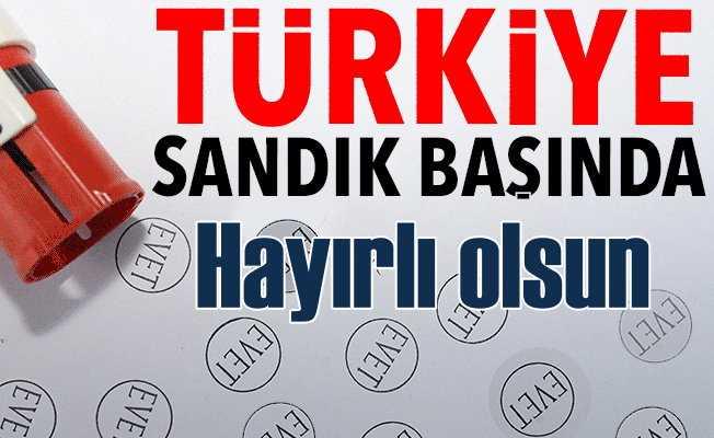 Türkiye sandık başına koştu; 57 milyon seçmen oy kullanıyor
