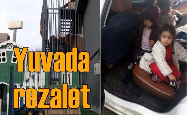 Yuvaya bırakılan çocuklar yangın merdiveninden kaçırıldı