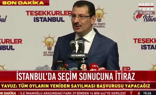 AK Parti, İstanbul'da tüm oyların sayılmasını istiyor