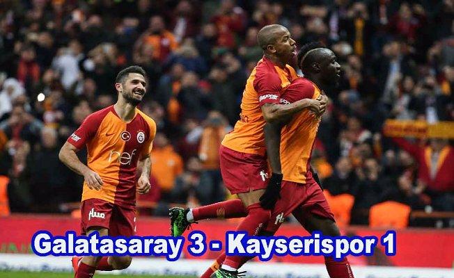 Galatasaray 3 puanı 3 golle aldı