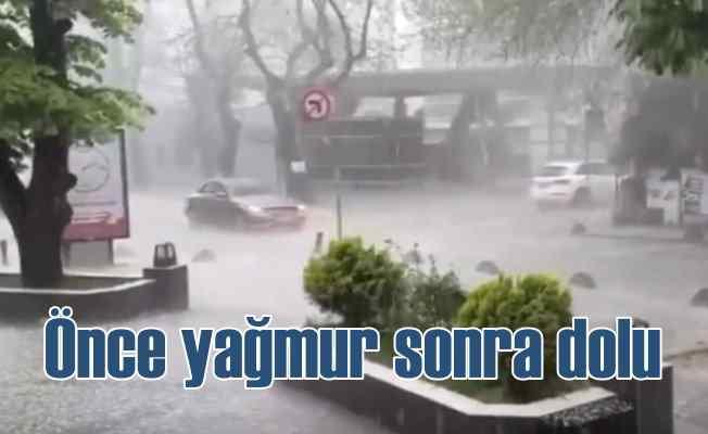 İstanbul'a önce yağmur sonra dolu sürprizi