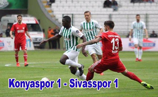 Konyaspor, Sivasspor ile puanları paylaştı