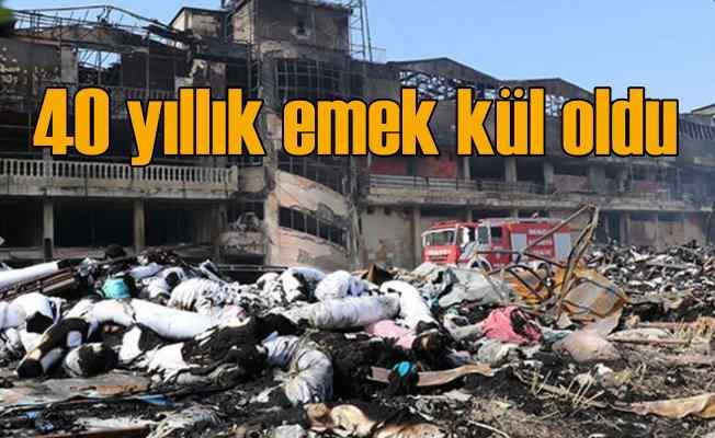 Pamukkale'de tekstil fabrikasında yangın, korkunç zarar