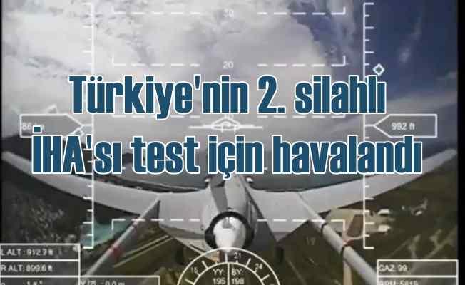 Türkiye'nin ikinci silahlı İHA'sı Akdeniz'de uçtu