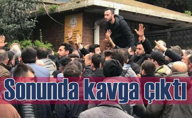 Üsküdar Seçim Kurulu önünde kavga | Polis havaya ateş açtı