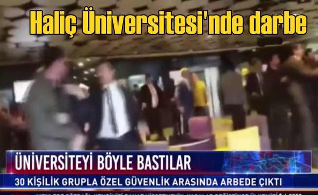Haliç Üniversitesi'ne baskın | Rektör koltuğuna oturdular