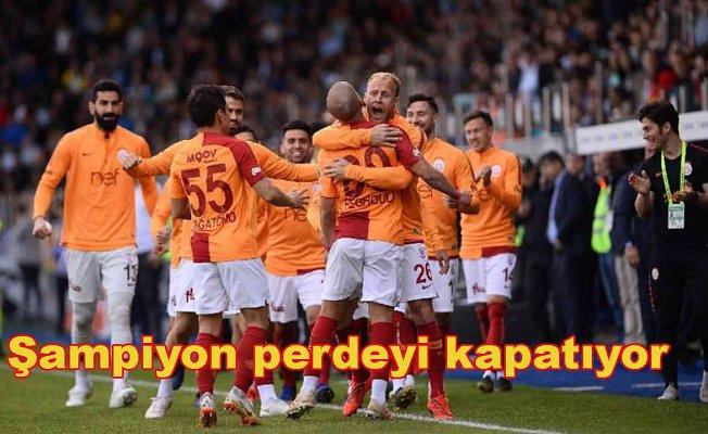 Şampiyon perdeyi Sivasspor maçıyla kapatıyor