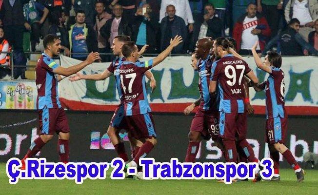 Trabzonspor'a galibiyet yetmedi