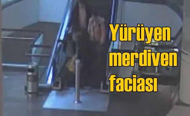 Yürüyen merdiven dehşeti, 5 yaşındaki çocuğun parmakları koptu