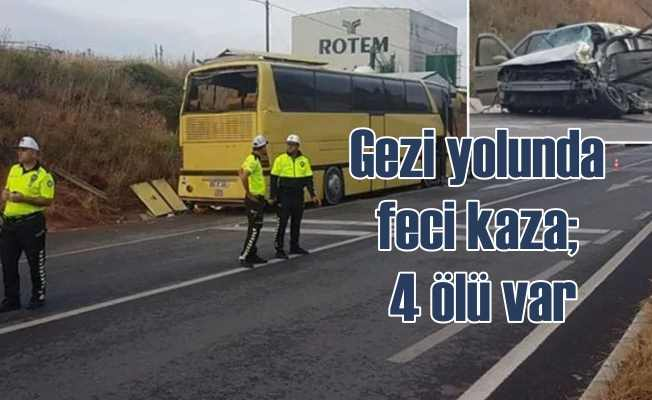 Bandırma'da trafik kazası, 4 ölü 42 yaralı var