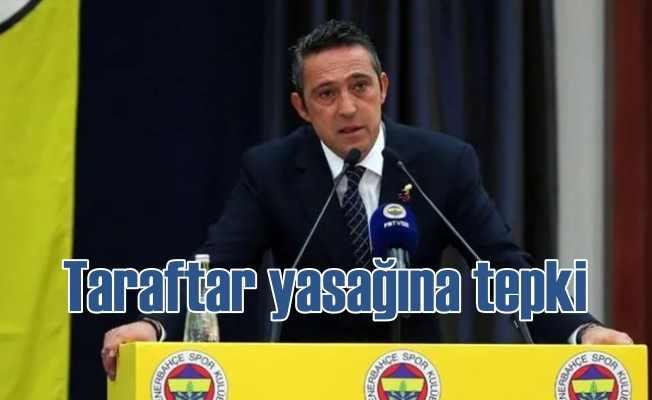 Fenerbahçe taraftar yasağına itiraz etti