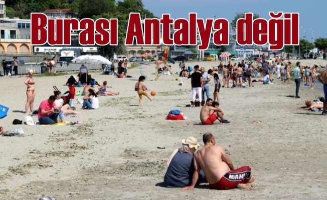 İstanbul sahilleri Antalya'ya benzedi