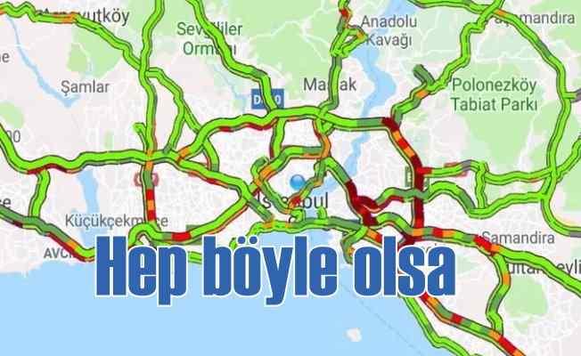 İstanbul trafiği bayramdan sonra ilk kez rahatladı