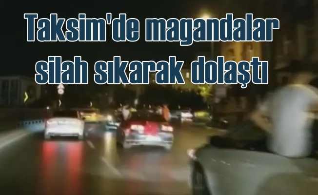 İstanbul'un göbeğinde magandalar silah sıktı