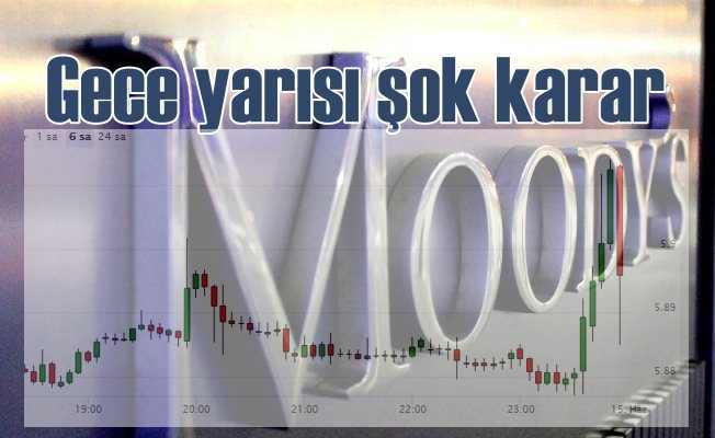 Türkiye için Moody's'te gece yarısı şok karar