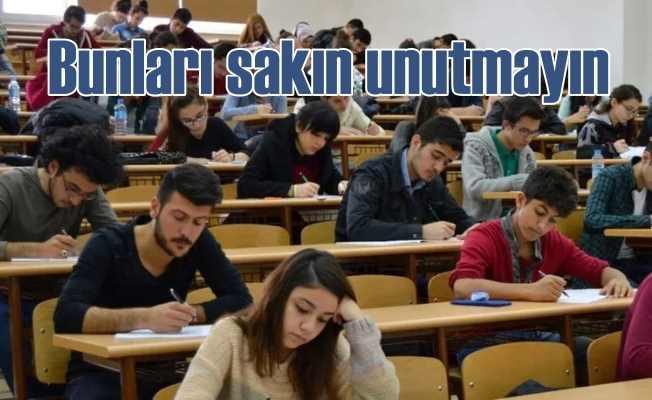 YKS öncesi kimliğinizi, sınav belgenizi sakın unutmayın