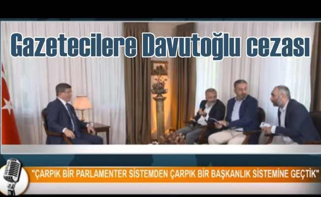 Davutoğlu'nu canlı yayına çıkaran 3 gazeteci kovuldu