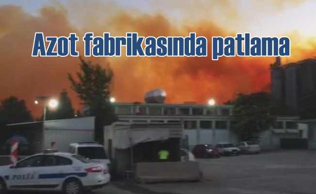 Kütahya'da azot fabrikasında korkutan patlama