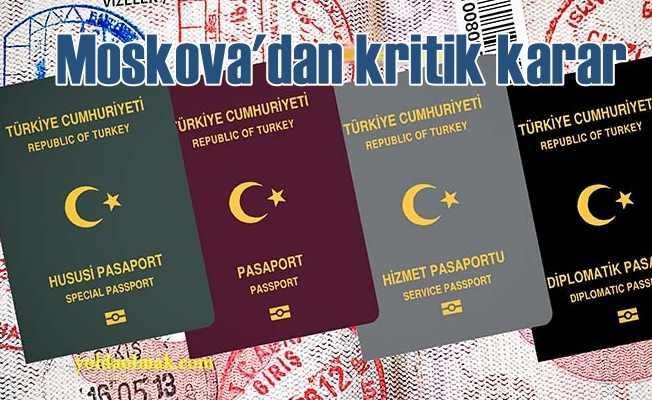 Putin'den Türk vatandaşlarına vize kaldırma talimatı
