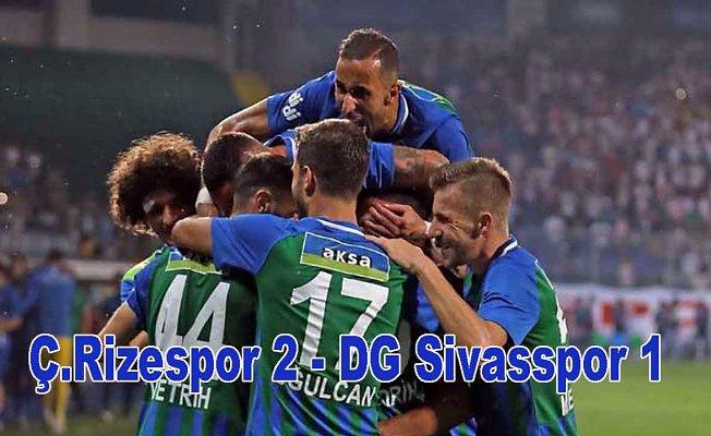 Çaykur Rizespor, Sivasspor'u 2-1 yendi