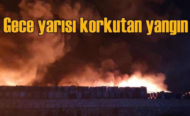 Geri dönüşüm tesislerinde yangın patlamalara neden oldu