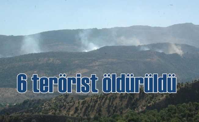Hakkari'de operasyon, 6 terörist öldürüldü