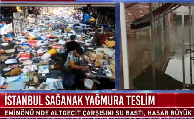 İstanbul'da bir saatlik yağmurun faturası ağır oldu