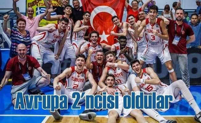 Millilerimiz basketbol'da Avrupa ikincisi oldu