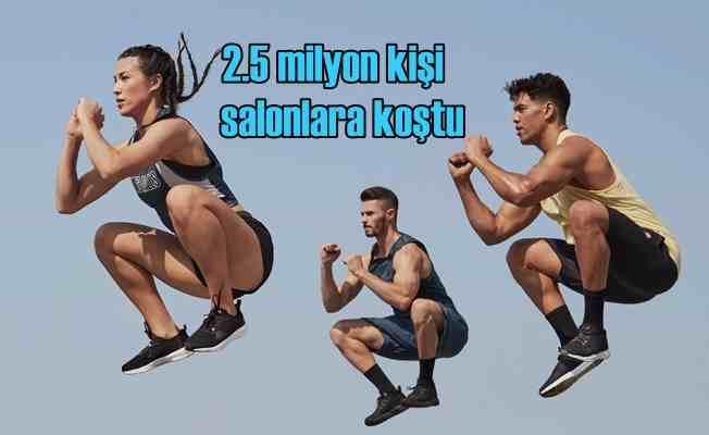 Fitness sektörü 2.5 milyon kişi ile coştu