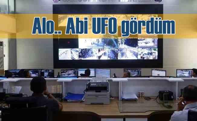 UFO gören 155 Polis İmdat hattını arıyor