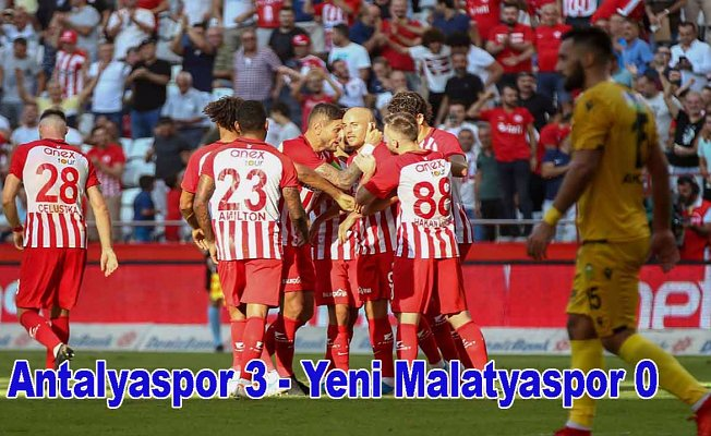 Antalyaspor farklı kazandı, Antalyaspor 3- Y.Malatyaspor 0