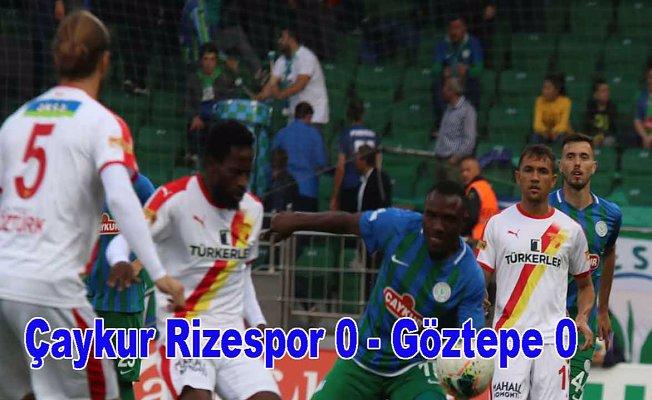 Ç.Rizespor evinde Göztepe ile puanları paylaştı