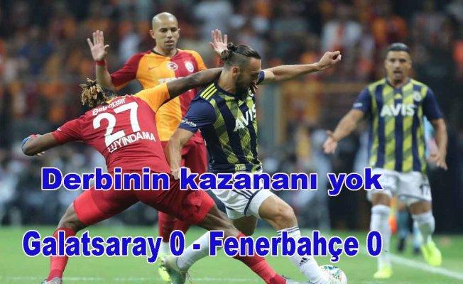 Derbide kazanan yok | Galatasaray 0 - Fenerbahçe 0