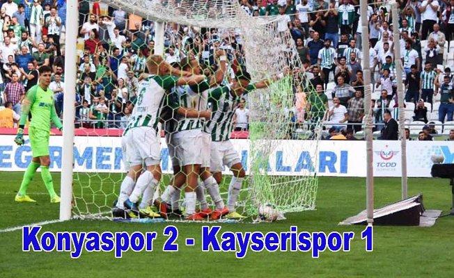 Konyaspor uzatmada 3 puanın sahibi oldu, Konyaspor 2-Kayserispor 1