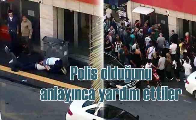 Polis sabıkalıyı yakaladı, vatandaş şaşkına döndü