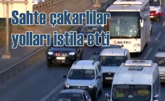 Sahte çakarlı araçlar İstanbul trafiğini istila etti