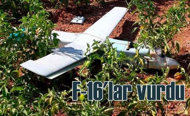 Türk savaş uçakları Suriye sınırında esrarengiz İHA'yı vurdu