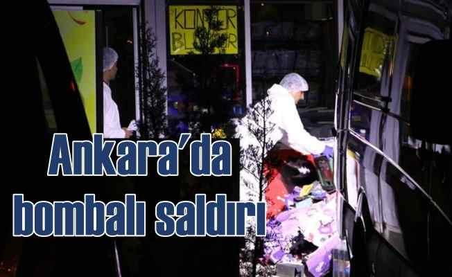 Ankara'da markete bombalı saldırı