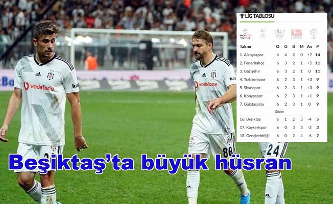 Beşiktaş'ta büyük çöküş