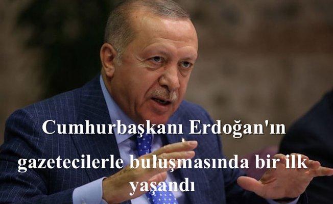 Cumhurbaşkanı Erdoğan'ın gazetecilerle buluşmasında büyük sürpriz