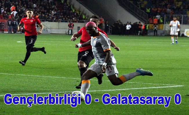 Galatasaray galibiyete hasret kaldı