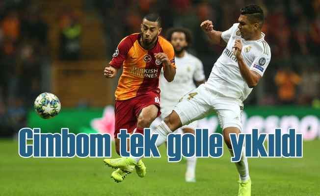 Galatasaray, tur yolunda ağır yara aldı | Galatasaray 0 - Real Madrid 1