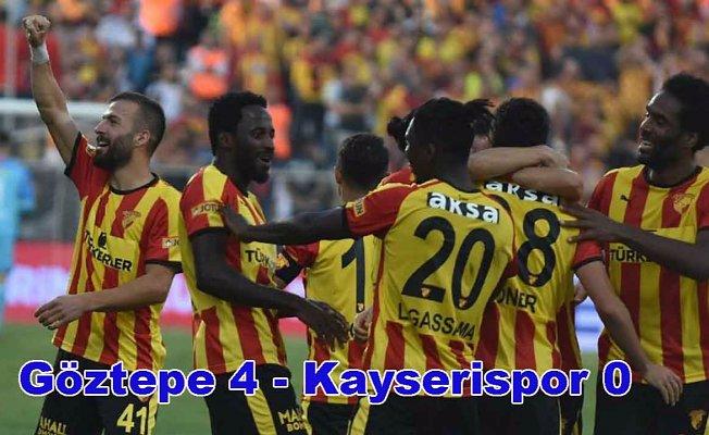 Göztepe evinde Kayserispor'u 4-0 yendi,
