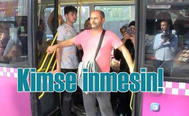 Halk otobüsünde hırsız alarmı, kadının çığılığı hırsızı yakalattı