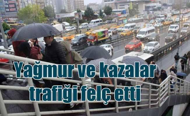 İstanbul'da trafik felç oldu, yağmur ve kazalar hayatı kilitledi